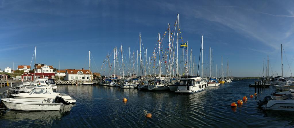 Panorama Hälsö hamn